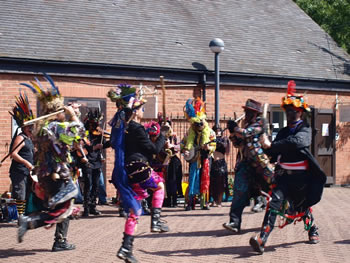morris dancing in the courtyard 09
